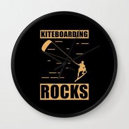 Kitesurfing | Kiteboarding Rocks | Kitesurfer Gift Wall Clock