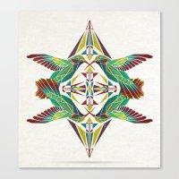 hummingbird Canvas Prints featuring hummingbird  by Manoou