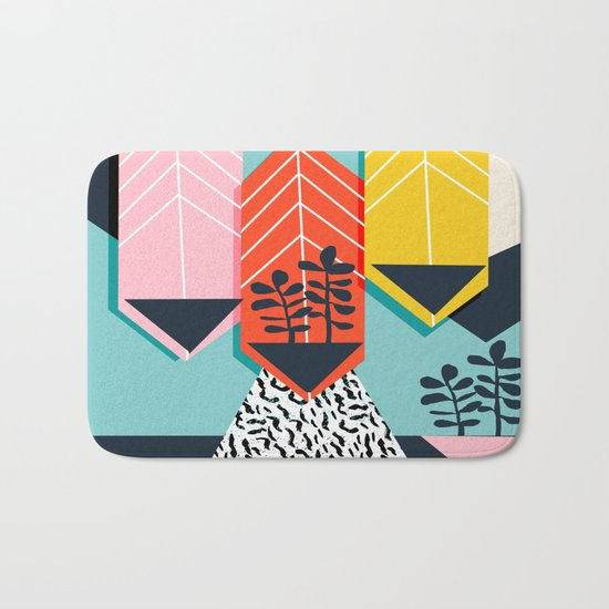 Legit - throwback 80s style memphis neon texture art print pop art dorm college hipster trendy urban Bath Mat