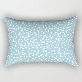 Cute Baby Blue and White Polka Dot Pattern Rectangular Pillow