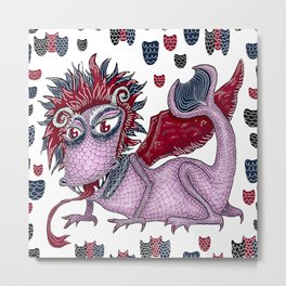 limited palette dragon Metal Print