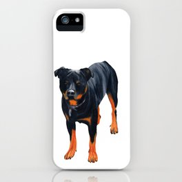 rottweiler iPhone Case