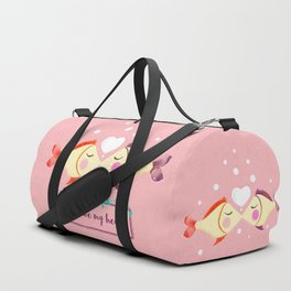 VALENTINE'S FISH IN LOVE Duffle Bag