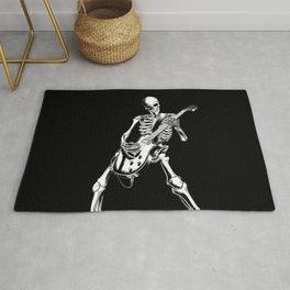 skeleton rockin playing guitar Rug