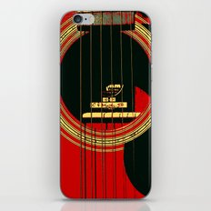 Guitar Sound Hole iPhone & iPod Skin