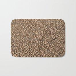 Frozen Sand - Nature Texture Pattern - Beige Bath Mat