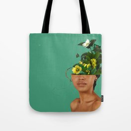 Lady Flowers VII Tote Bag