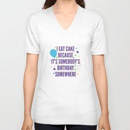 I Eat Cake Unisex V-Neck