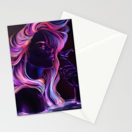 Blacklight Babe Stationery Cards