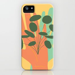 Plant Lovers - Hands On Illustration iPhone Case
