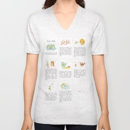 The story of the Chicken Frog Unisex V-Neck
