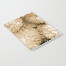 Monochrome Abstract Mums Notebook