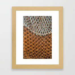 texture - connections Framed Art Print