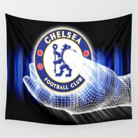chelsea Wall Tapestries featuring chelsea,chelsea  games, chelsea  blanket, chelsea  duvet cover, chelsea  shower curtain,  by ira gora
