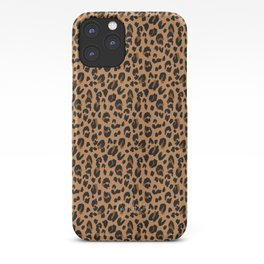 Leopard - Black Brown on Tan iPhone Case