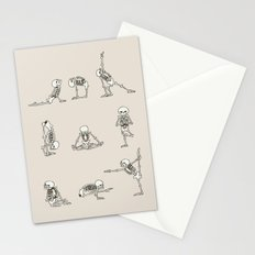 Skeleton Yoga Stationery Cards