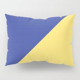 Modern royal blue sunshine yellow trendy color block Pillow Sham