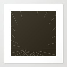 #420 Black matter – Geometry Daily Canvas Print