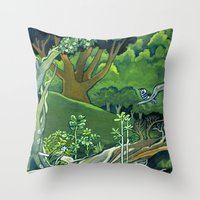giants Throw Pillows featuring Fallen Giants by Patricia Howitt