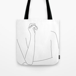 Woman's arms minimal illustration - Zoe Tote Bag