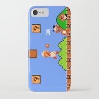 mario bros iPhone & iPod Cases featuring Super Mario Bros by Trash Apparel