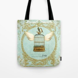 Flying Bird Cage Tote Bag