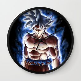 Ultra blue fighter Wall Clock