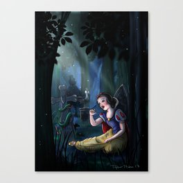 Snow's Haunted Forest Song by Topher Adam 2017 Canvas Print