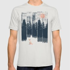 A Fox in the Wild... MEDIUM Mens Fitted Tee Silver