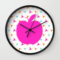 apple Wall Clocks featuring *Apple* by Mr and Mrs Quirynen