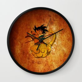 goku and kinton Wall Clock