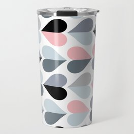 Love and Kisses in Pink and Grey Travel Mug