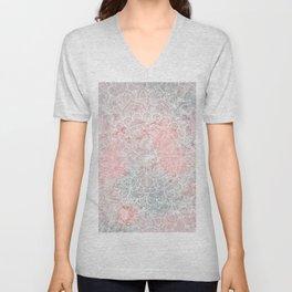 Bright Pink Mandala Design Unisex V-Neck