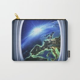 Airplane window with Earth, porthole #4 Carry-All Pouch