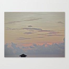 A Pink Sunset Canvas Print