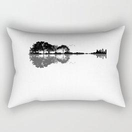 Acoustic Guitar Forest Nature Reflection Musician Rectangular Pillow