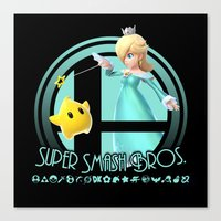 super smash bros Canvas Prints featuring Rosalina - Super Smash Bros. by Donkey Inferno