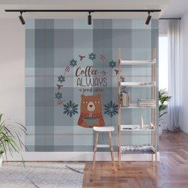 Bearrific Coffeelicious Christmas Wall Mural