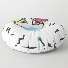 Modernistic abstract shape pattern texture Floor Pillow