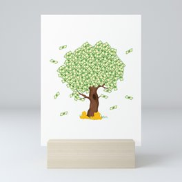 """Cute and inspiring best for luck """"Money Growing"""" tee design. Makes an awesome gift to your friends!  Mini Art Print"""