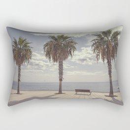 Palm trees in Palma de Mallorca Rectangular Pillow