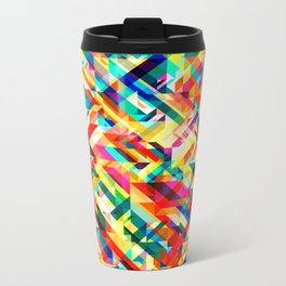 Summertime Geometric Metal Travel Mug