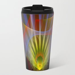 Inner light, spiritual fractal abstract Travel Mug