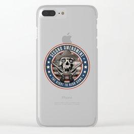 Second Amendment Clear iPhone Case