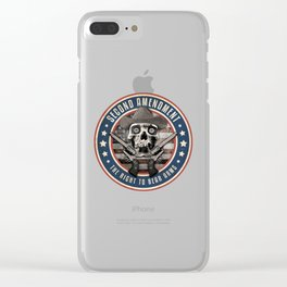 Second Amendment Clear iPhone Case