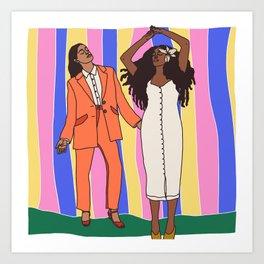 Dancing Queens Art Print