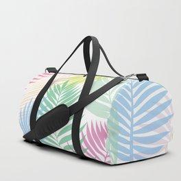 Layered Palms - White Duffle Bag