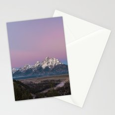 Pink Sunrise in Grand Teton Stationery Cards