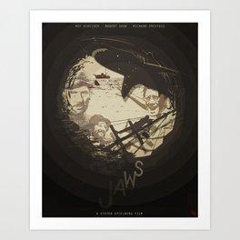 Jaws Poster Art Print