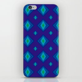 Azul electrico iPhone Skin